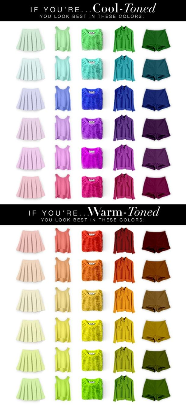 ubrania ciepłe zimne