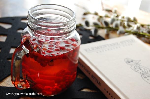 elementarz stylu herbata żurawinowa